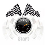 Geschwindigkeitsmesserhintergrund Lizenzfreie Stockbilder