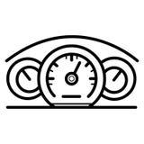 Geschwindigkeitsmesserikonenvektor stock abbildung