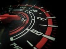 Geschwindigkeitsmessermotorrad Lizenzfreie Stockfotos