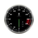 Geschwindigkeitsmesservektorillustration Stockbilder