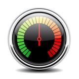 Geschwindigkeitsmeter-Vektorikone Stockbilder
