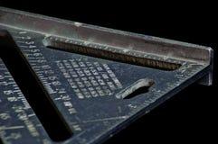 Geschwindigkeitsquadrat, Werkzeug des Tischlers Stockbilder