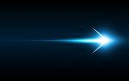 GESCHWINDIGKEITStechnologie-Innovationskonzept des abstrakten Pfeilsymbols Vorwärts lizenzfreie abbildung