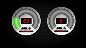 Geschwindigkeitstest stock video footage