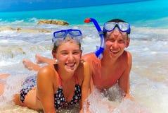Geschwister in Cancun Lizenzfreie Stockfotografie
