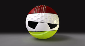 Gesegmenteerd om de Bal van Sporten vector illustratie