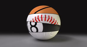 Gesegmenteerd om de Bal van Sporten royalty-vrije illustratie