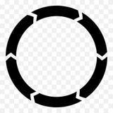 Gesegmenteerde cirkelpijl Cirkelpijlpictogram Proces, progres, r stock illustratie