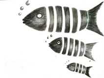 Gesegmenteerde Vissen stock illustratie