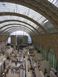 Gesehen durch das hohe eines Teils des Museums von Orsay, Bahnexstation, errichtet am Ende der acht hundert paris frankreich Lizenzfreie Stockfotografie
