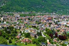 Gesehen vom heiligen Berg-Kalvarienberg von Domodossola Lizenzfreies Stockbild