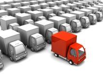 Geselecteerde leveringsvrachtwagen Stock Foto's