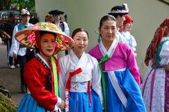 Gesellschaft für koreanische Tanz Ausbildung + Hata Stockbilder