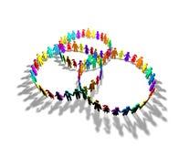 Gesellschaft, Zusammengehörigkeit, Sozialzusammenfassungsidee des abstrakten Begriffs Lizenzfreies Stockfoto