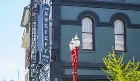 Gesellschafts-Hotel in der Stadt von Portland - PORTLAND - OREGON - 16. April 2017 Stockbild
