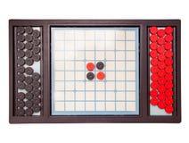 Gesellschaftsspiel lokalisiert auf Weiß Lizenzfreies Stockfoto