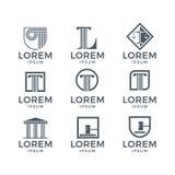 Gesetz Logo Set vektor abbildung