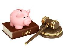 Gesetz und Geld Stockfotografie