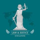 Gesetzes- und Gerechtigkeitsdesign Stockfotografie