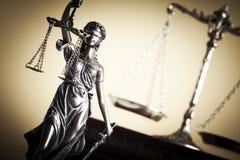 Gesetzes- und Gerechtigkeitskonzept Stockbild
