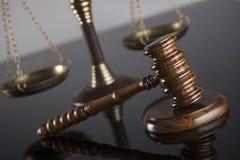 Gesetzes- und Gerechtigkeitskonzept Platz für Text Lizenzfreie Stockbilder