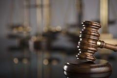 Gesetzes- und Gerechtigkeitskonzept Platz für Text Stockfoto