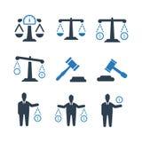 Gesetzesgeschäfts-Ikone - blaue Version lizenzfreie abbildung