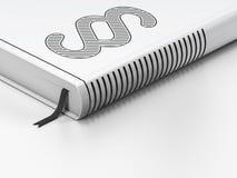 Gesetzeskonzept: geschlossenes Buch, Paragraph auf Weiß Lizenzfreies Stockfoto