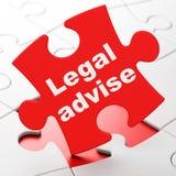 Gesetzeskonzept: Legal raten Sie auf Puzzlespielhintergrund Stock Abbildung
