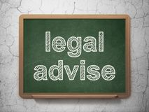 Gesetzeskonzept: Legal raten Sie auf Tafelhintergrund Stock Abbildung