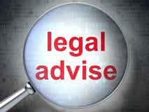 Gesetzeskonzept: Legal raten Sie mit optischem Glas Vektor Abbildung