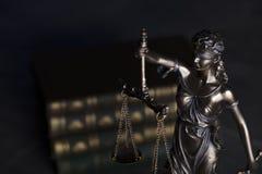 Gesetzesthema Blindes Gerechtigkeitssymbol - Themis Stockbilder