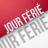 Gesetzlicher Feiertag auf französisch: Jour Férié Stockbild