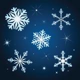 Gesetzte Abbildung des Schneeflockewinters vektor abbildung
