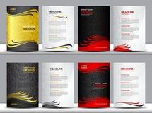 Gesetzte Abdeckungs-Jahresberichtvektorillustration, Abdeckung Schablone, Polygonhintergrund lizenzfreie abbildung