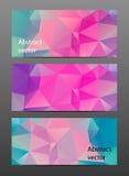 Gesetzte abstrakte polygonale Fahne Stockbilder
