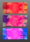 Gesetzte abstrakte polygonale Fahne Lizenzfreie Stockfotos