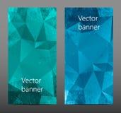 Gesetzte abstrakte polygonale Fahne Lizenzfreie Stockfotografie