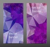 Gesetzte abstrakte polygonale Fahne Stockfoto