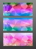 Gesetzte abstrakte polygonale Fahne Stockfotografie