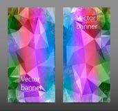 Gesetzte abstrakte polygonale Fahne Lizenzfreies Stockfoto
