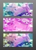 Gesetzte abstrakte polygonale Fahne Lizenzfreies Stockbild