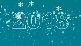 Gesetzte Animation des neuen Jahres der hohen Qualität Simsen Sie 2018 Schalter bis 2019 Glückliches neues Jahr-Konzept stock abbildung