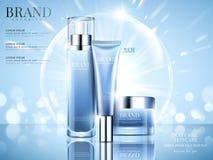 Gesetzte Anzeigen der Kosmetik stock abbildung