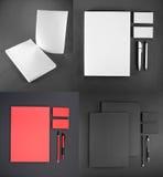 Gesetzte Auslegung des Briefpapiers Briefpapierschablone Template für Geschäftsgestaltungsarbeiten Stockfotos