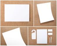 Gesetzte Auslegung des Briefpapiers Briefpapierschablone Template für Geschäftsgestaltungsarbeiten Lizenzfreies Stockfoto