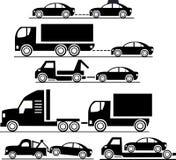 Gesetzte Autos der Ikone Stockfotos