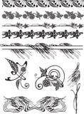 gesetzte Blumendekorationen Stockbilder