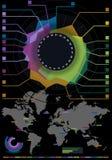 Gesetzte Elemente des Infographic Blumen-Histogramms Lizenzfreies Stockfoto