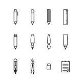 Gesetzte Entwurfsart der stationären Ikone Vektor Abbildung